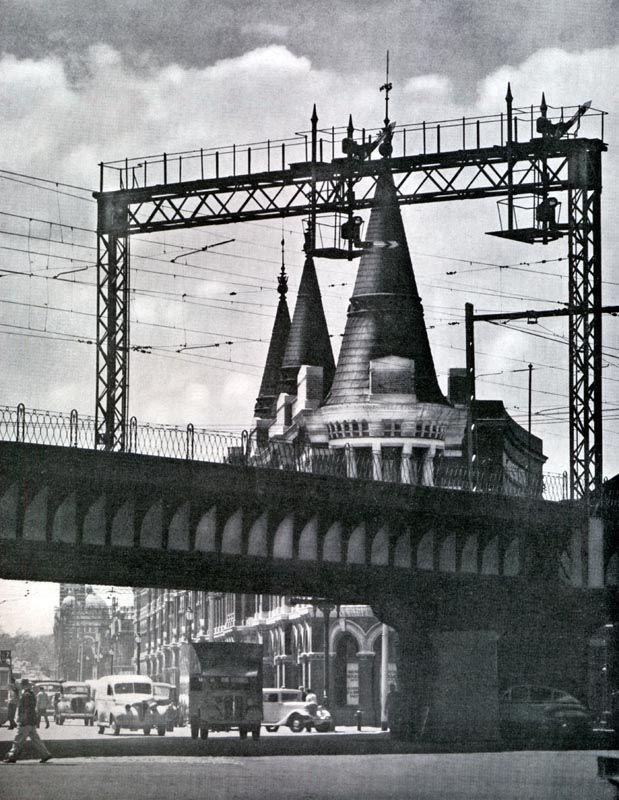 Vintage Flinders St Rail Overpass Melbourne Victoria Australia