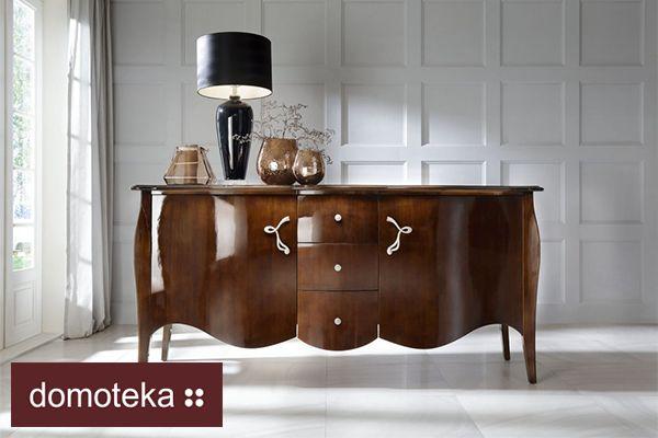 Spójrz na tę komodę i daj się jej skusić! Delikatne zaokrąglenia i smukłe nóżki, solidne, lite drewno – taka właśnie jest modernistyczna komoda Charme. Novelle - Home Couture jak zwykle elegancko i szykownie.