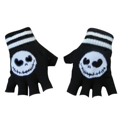 Jack Skellington fingerless gloves, awesome nightmare before chrsitmas! www.attitudeholland.nl