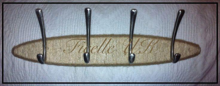 Handmade twine coat hooks