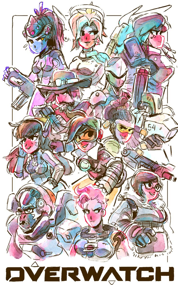 Maysketch-a-day 25. Overwatch! A bunch of the characters I ...