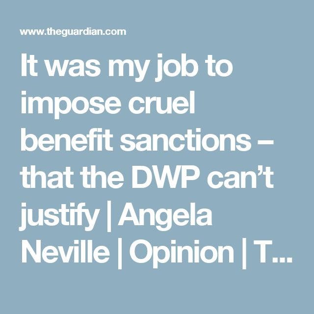 It was my job to impose cruel benefit sanctions – that the DWP can't justify | Angela Neville | Opinion | The Guardian https://en.wikipedia.org/wiki/Work_Programme