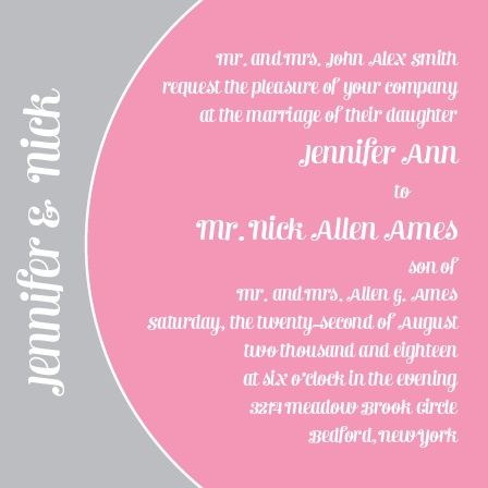 The Modern Half Circle is a customizable one side square wedding invitation with customizable text and colors.