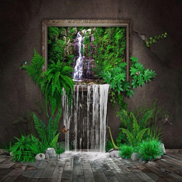 Indoor Waterfall Art Around Us Pinterest Best