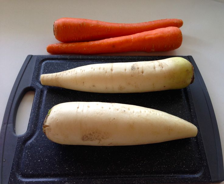 Carrot and Daikon Pickles (Asian style)