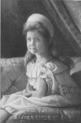 Grand Duchess Maria Nikolaevna Romanova of Russia at her brother's christening.A♥W