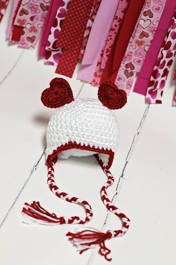 Valentine Heart Crochet Hat Newborn Baby Valentine Hat New - new valentine's day music coloring pages