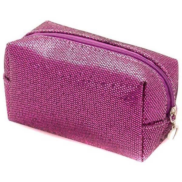 Fuschia Colour PVC Cosmetic Bag with Printing