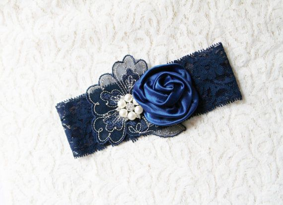 Bridal Garter Wedding Garter Lace Garter Blue Garter by NAFEstudio                                                                                                                                                                                 More