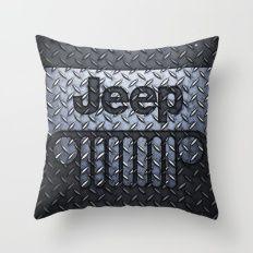 jeep logo Throw Pillow