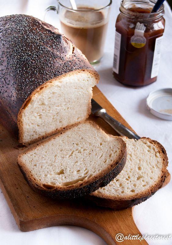 Il pane dolce ai semi di papavero (senza uova) è un'ottima soluzione per la colazione!
