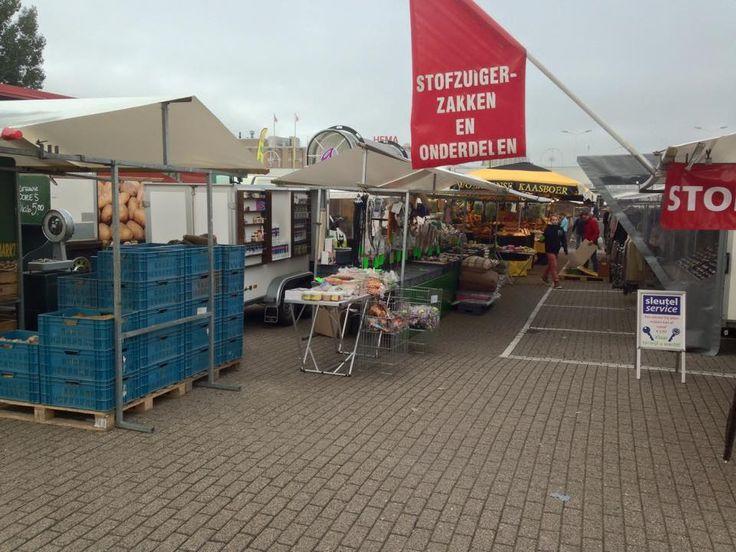 De markt in Alpen aan den Rijn op zaterdag