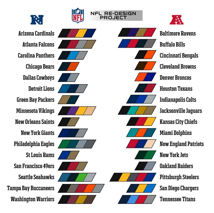 Official Nfl Team Colors Paint