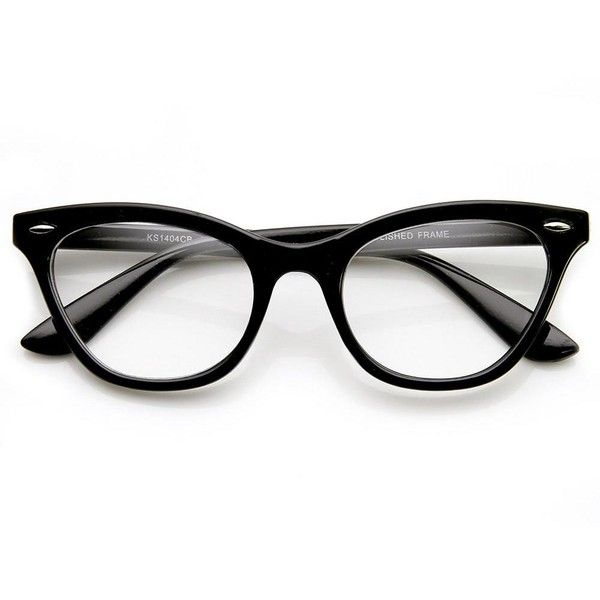 Womens Retro 1950'S Fashion Clear Lens Cat Eye Glasses 9276 (640 RUB) ❤ liked on Polyvore featuring accessories, eyewear, eyeglasses, lens glasses, clear cat eye glasses, clear glasses, clear eyeglasses and uv protection glasses