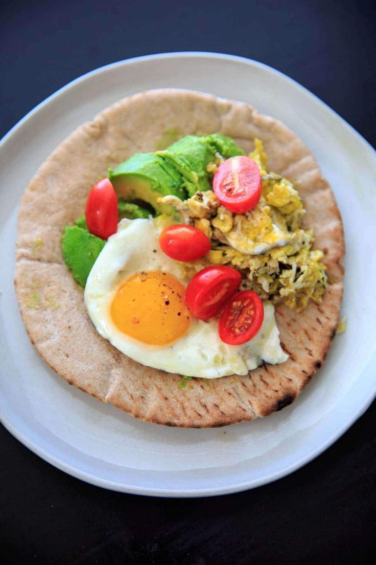 A vegetarian breakfast pita wrap that can be made in 5 minutes and is full of protein, fiber and flavor. A hot, quick breakfast idea that can be made even on busy mornings!