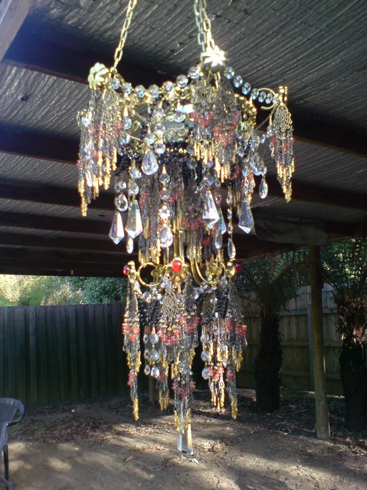 388 best chandeliers crystals images on pinterest chandeliers artist julie crisp i wonder if brad and i could do this with some odds and ends from a chandelier aloadofball Gallery
