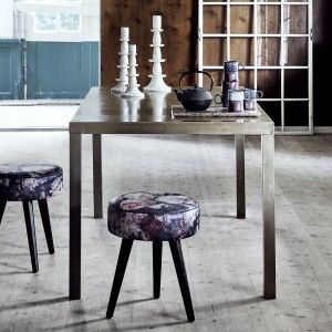 Gold Metal Dining Table | i love retro | We love this stylish brass metal dining table with a distressed, metallic finish. It's a contemporary piece with an industrial twist that is bang on trend. Perfect to complete your dining room or kitchen.