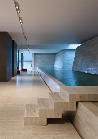 Stone Interior Pool in Victoria, Australia by Jolson Architecture