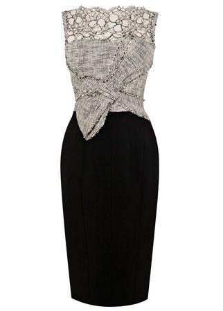 Karen Millen lace and tweed dress, £190