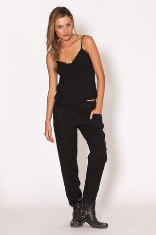 Amilita - Luca Pants   black   classic   style   model   summer   chic   Paved Paradise