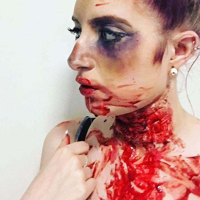 First time using liquid latex #sfxmakeupartistinthemaking #bloodymary #sfxmakeupartist #sfxmakeup #sfx
