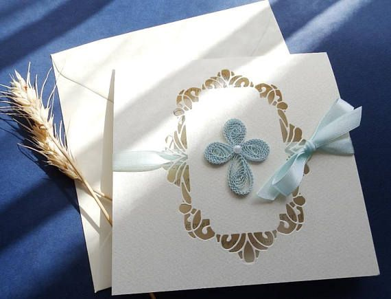 Handmade Christening Boy and Girl invitation/Baptism