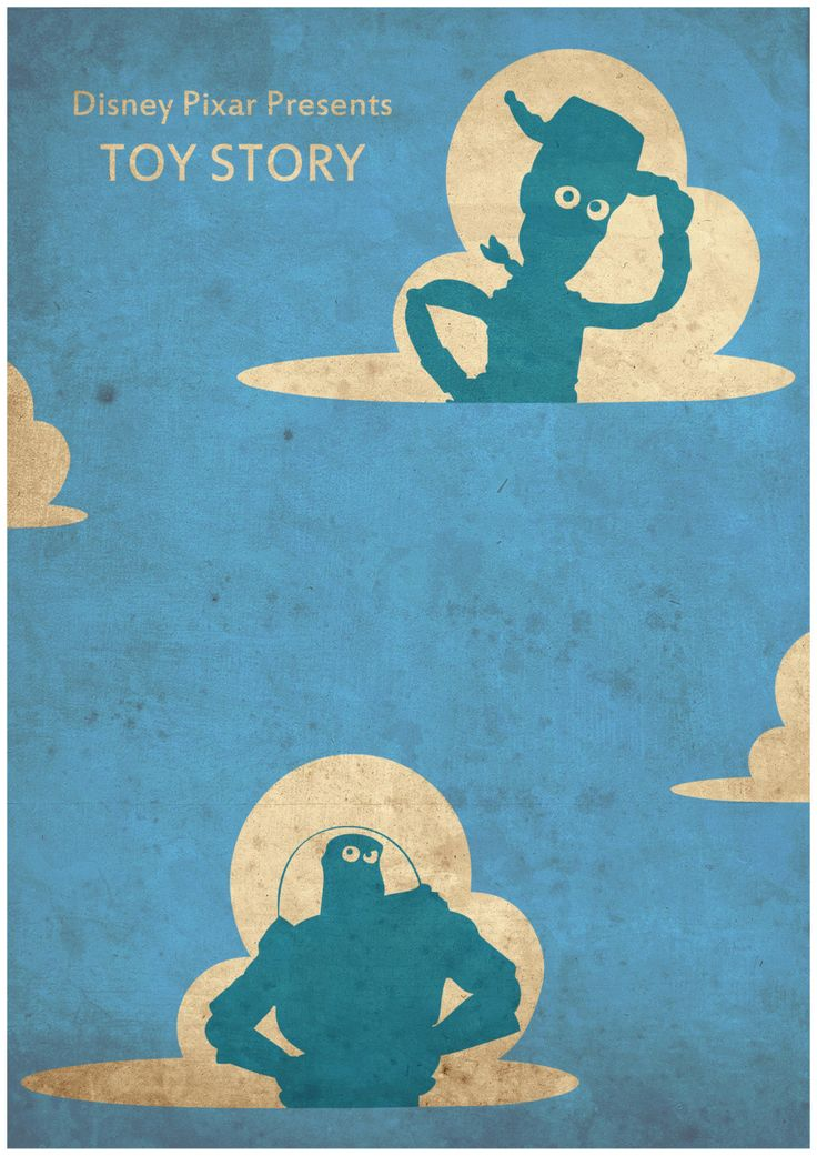 Toy Story - Minimalist Disney Pixar movie poster, Minimalist Retro Poster, Movie…
