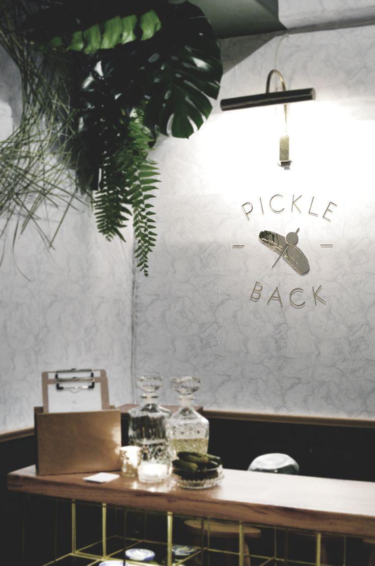 PICKLEBACK Bar   SETSQUARESTUDIO and FIRECRACKEREVENT  Pop up at the Carlton club - July 2014