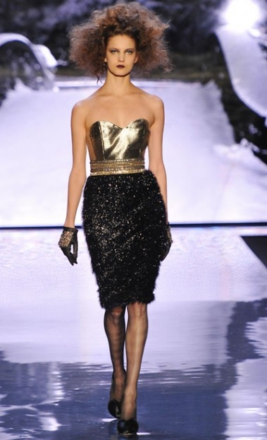 Badgley MischkaFashion Weeks, Mercedes Benz Fashion, Dresses, Fall 2012, Gold Www Le Mashed Com, Mercedesbenz Fashion, Mischka Fall, Badgley Mischka, Black