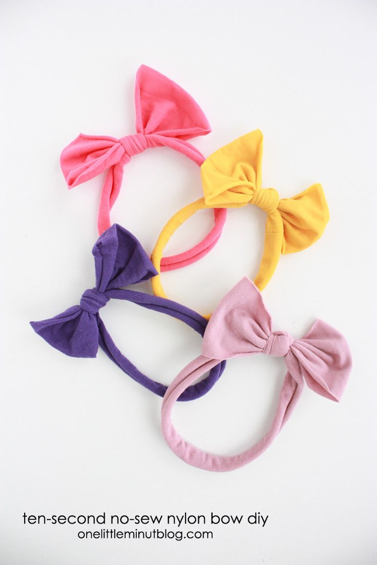 Nylon No Sew Bow-One Little Minute Blog-20