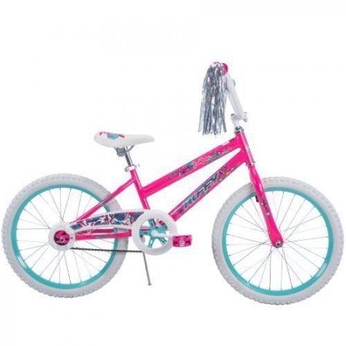 Bikes for Girls 20 inch Huffy Bicycle Single Speed Steel Frame Bar Kid Pink #Huffy