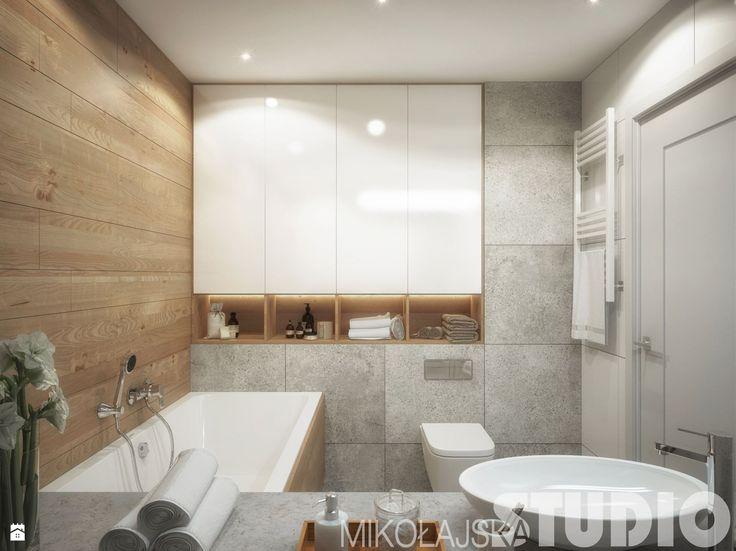 łazienka z wanną-projekt - zdjęcie od MIKOŁAJSKAstudio - Łazienka - Styl Skandynawski - MIKOŁAJSKAstudio