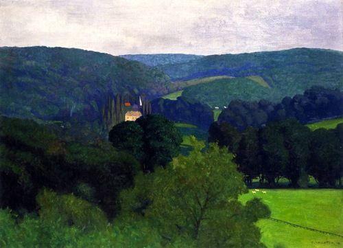 The Chateau de Barnville - Felix Vallaton - 1910