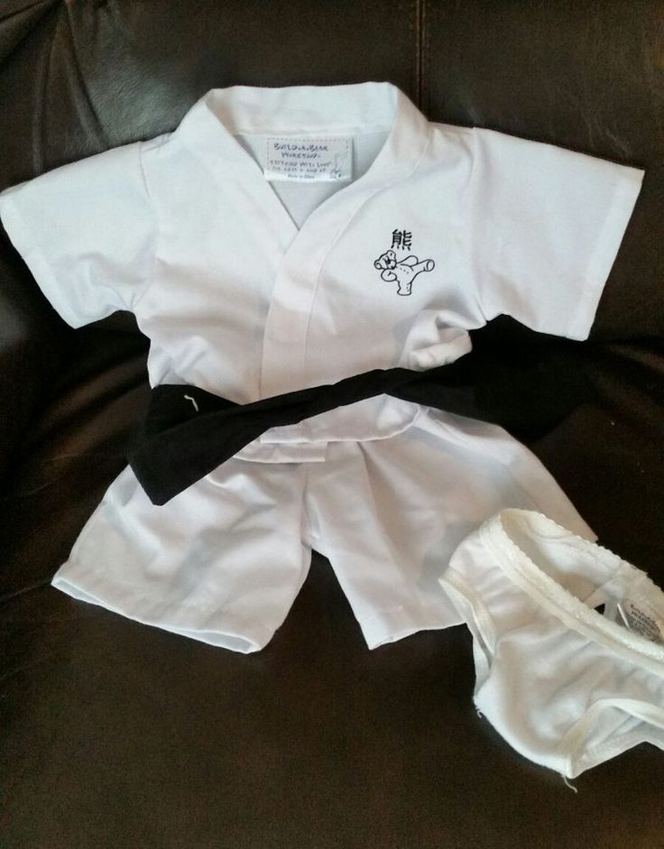 BUILD A BEAR Clothing and Accessories 2PC Karate Black Belt Outfit and Panties | Toys & Hobbies, Stuffed Animals, Other Stuffed Animals | eBay!