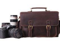 Handgemachte echtes Leder DSLR Kamera Bag,Kamera