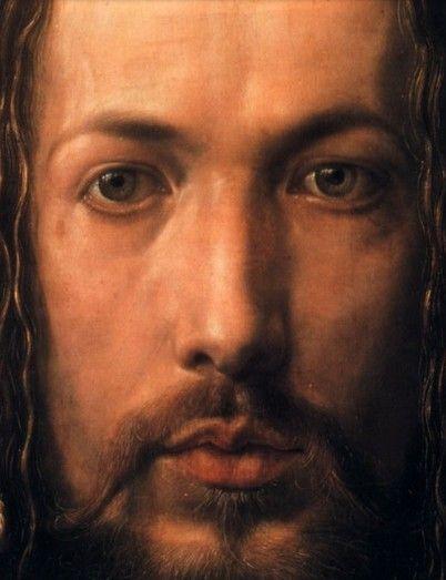 Albrecht Dürer - Self-portrait 1500 Detail / Self-Portrait at 28 - Albrecht Dürer (1471-1528) Artist, mathematician, philosopher, innovator Romantic color