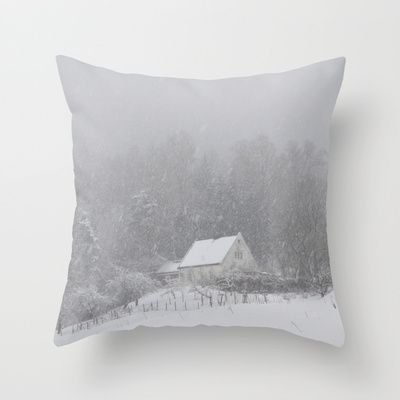 "Throw Pillow / Indoor Cover (16"" X 16"") • 'Snøhus' • IN STOCK • $20.00 • Go to the store by clicking the item."
