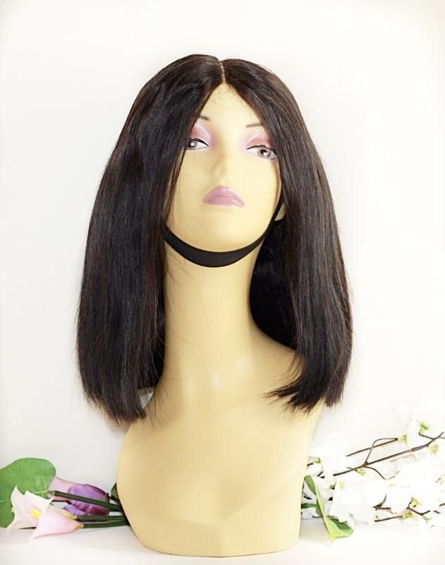 "HBlunt Cut Human Hair Wig- Brazilian Straight Lace Closure Wig (12"") ,Virgin Hair Canada, Lace Closure in Calgary, lace frontal, human hair, Cheap wigs online #wigs #bluntcut #bobwig #brazilianhair"