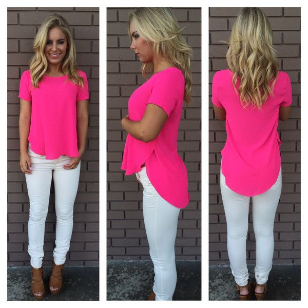 25  best Hot pink tops ideas on Pinterest | Hot pink shorts, Hot ...