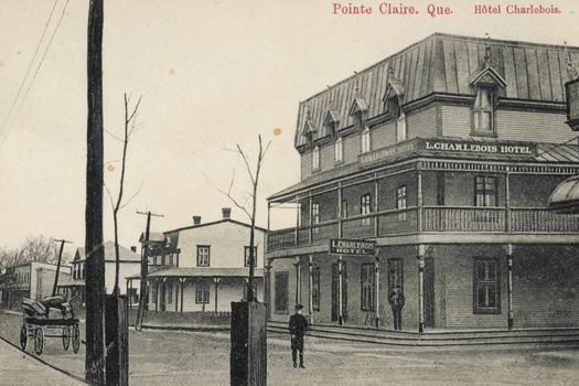 Hôtel Charlebois, vers 1910 Pointe-Claire