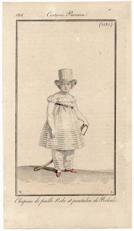 Child's outfit, 1816.