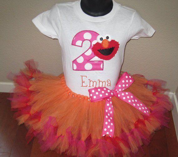 Personalized Elmo Birthday Design - Large Dot