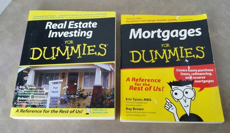 Real Estate Investing Mortgages For Dummies personal finance Business Economics