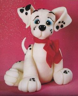 Dog Cake Tutorials: Cakes Decor Tutorials, Air Dry Clay, Cold Porcelain Tutorial, Cakes Toppers, 101 Dalmatians, Polymer Clay, Clay Tutorials, Dogs Cakes, Dalmatians Pups