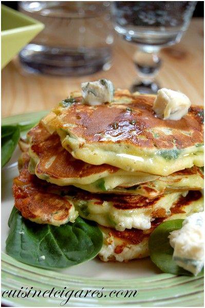 Pancakes Epinards et Gorgonzola Duo 2