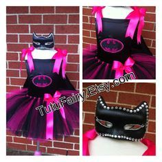 My Creative Way: Batgirl Tutu Costume. Pink & Black Halloween Costume