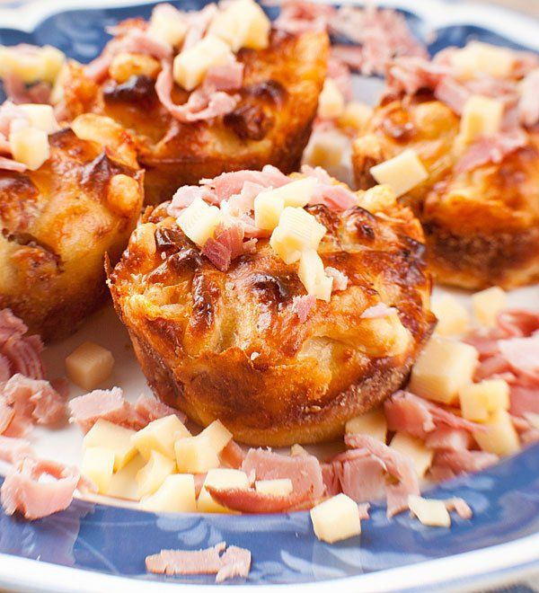 recetas para fiestas infantiles muffins salados de jamn y queso