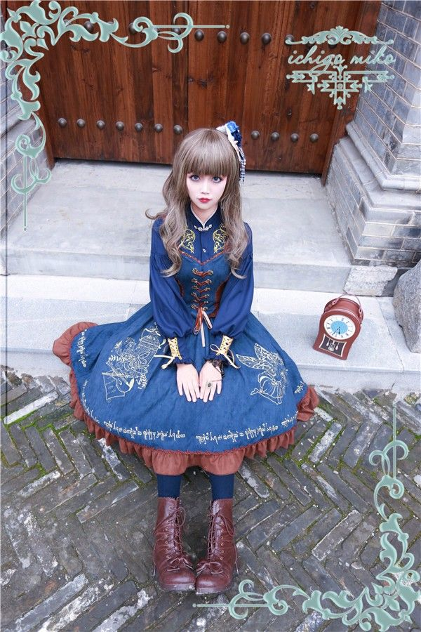 IchigoMiko ~The Song of the Wood Elves~ Embroidery Lolita Corset JSK - My Lolita Dress