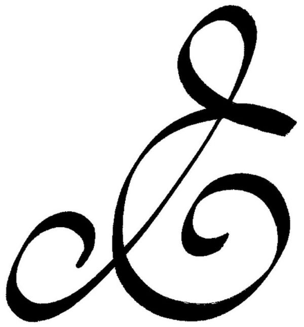 """like this symbol. Means """"listen within"""" from the zibu angelic language of symbols. It can also be taken as an ampersand  symbol. by Mariya pp"""