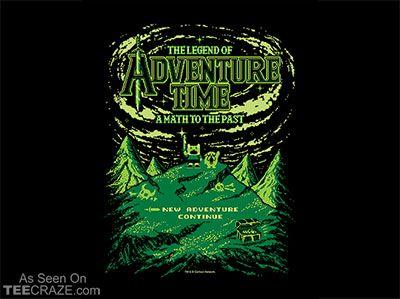 The Legend Of Adventure Time T-Shirt - teecraze.com/... -  Designed by filippomorini